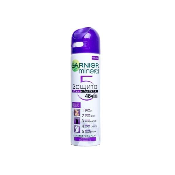 Дезодорант -антиперспирантGarnier Mineral Защита 5в1 Весенняя Свежесть Спрей
