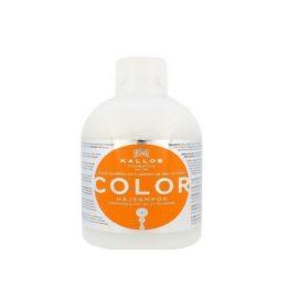 Шампунь для окрашенных волос-Kallos Cosmetics Color Shampoo With Linseed Oil