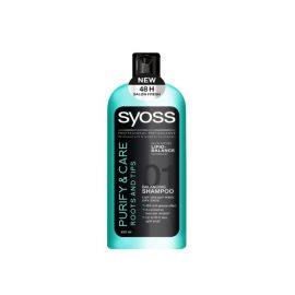 Шампунь для посеченных кончиков и жирных корней-Syoss Purify & Care