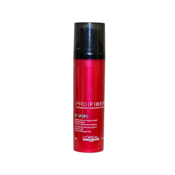 Гель-сыворотка для волос-L'Oreal Pro Fiber Revive Hair Serum Gel for Slightly Damaged Hair