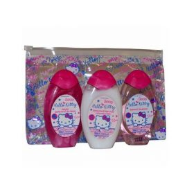 Набор Гель для душа, шампунь и лосьон для тела-Hello Kitty Mini Travel Set Shower Gel, Shampoo and Body Lotion