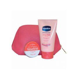 Набор крем для рук и губы-Vaseline Handbag SOS Kit Handcream and Rosy Lips