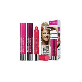 Набор глянцевых губных карандашей-Bourjois Paris 3x Color Boost Glossy Finish Lip Crayons