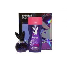 Набор Туалетная, Гель для Душа-Playboy Endless Night Women Eau de Toilette Spray, Shower Gel