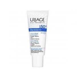 Крем с медным цинком для лица-Uriage Bariederm CIC Cream with Copper Zinc SPF50+