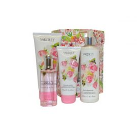 Набор-Yardley English Rose Eau de Toilette Spray, Lotion, Body Wash , Hand Cream